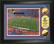 University of Kansas Memorial Stadium 24KT Gold Coin Photomint
