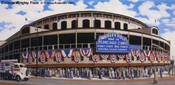 """Outside Wrigley Field"" Chicago Cubs Print"