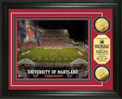Maryland Terrapins - Byrd Stadium Gold Coin Photo Mint