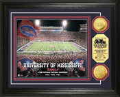 Ole Miss Rebels - Vaught Hemingway Stadium Gold Coin Photo Mint
