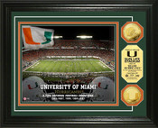 Miami Hurricanes - Sun Life Stadium Gold Coin Photo Mint
