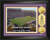 LSU Tigers - Tiger Stadium Gold Coin Photo Mint