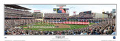 """Inaugural Game"" Minnesota Twins at Target Field Panorama Framed Poster"