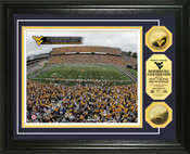 WVU Mountaineer Field 24KT Gold Coin Photomint