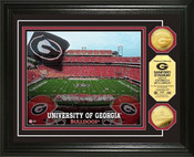 University of Georgia Sanford Stadium 24KT Gold Coin Photomint
