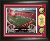 Wisconsin Camp Randall Stadium 24KT Gold Coin Photomint