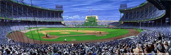"""Cleveland Municipal Classic"" Cleveland Indians Print"