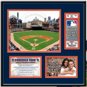 Comerica Park Ticket Frame - Tigers