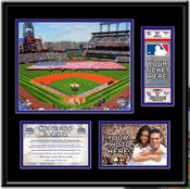 Coors Field Ballpark Ticket Frame - Rockies