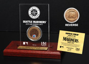 Safeco Field Infield Dirt Coin Etched Acrylic