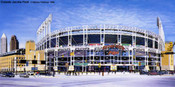 """""""Outside Jacobs Field"""" Cleveland Indians Print"""