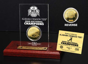 Alabama Crimson Tide '09 Champions 24KT Coin in Engraved Acrylic