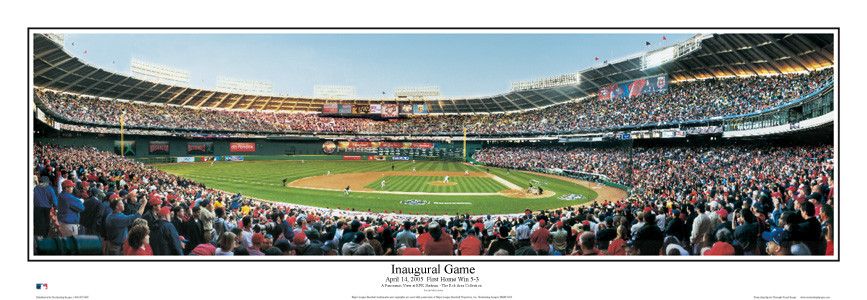 """Inaugural Game"" Nationals at RFK Stadium Panoramic Poster"