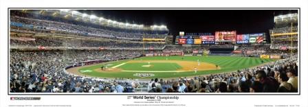 """27th World Series Championship"" Yankees Panoramic Poster"