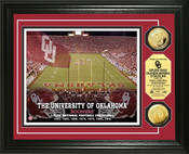 Oklahoma Sooners - Memorial Stadium Gold Coin Photo Mint