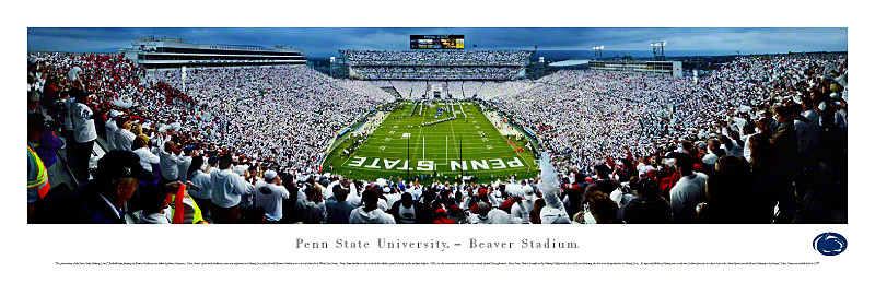 Penn State Nittany Lions at Beaver Stadium Panorama Poster