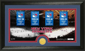 "New York Rangers ""Tradition"" Minted Coin Pano Photo Mint"