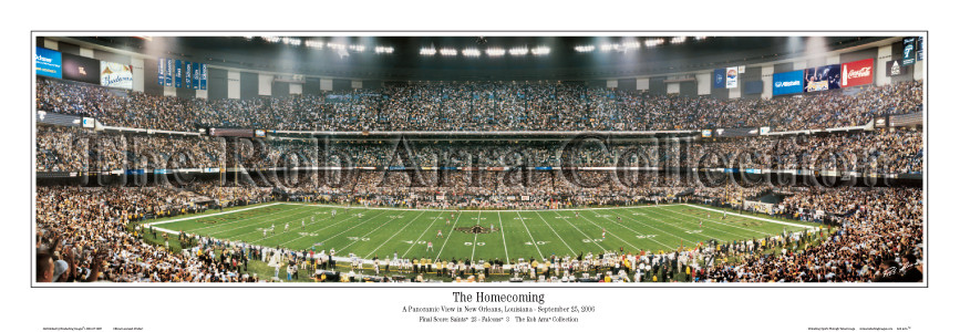 """The Homecoming"" New Orleans Saints 13.5""x39"" Standard Frame"