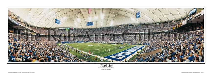 """8 Yard Line"" Indianapolis Colts 13.5""x39"" Panoramic Poster"