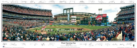 """Final Opening Day"" Shea Stadium Panoramic Poster"