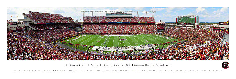 South Carolina Gamecocks at Williams Brice Stadium Panorama