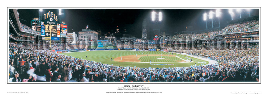 """""""Home Run Delivery"""" Detroit Tigers 13.5"""" x 39"""" Panoramic Poster"""
