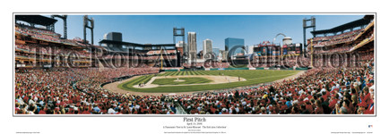 """First Pitch"" St. Louis Cardinals Panoramic Poster"