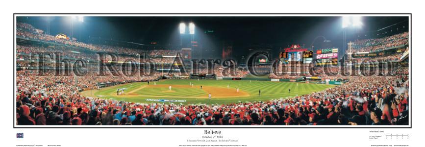 """""""Believe"""" St. Louis Cardinals - 13.5"""" x 39"""" Standard Frame"""