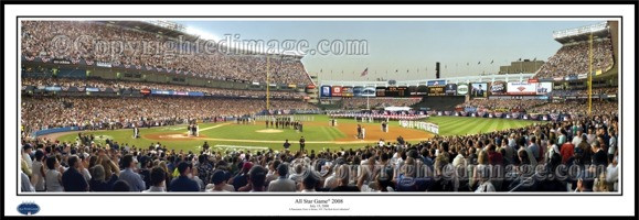 """All Star Game 2008"" Yankee Stadium 13.5""x39"" Standard Frame"