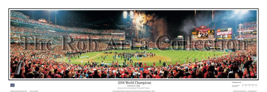 """""""2006 World Champions"""" Cardinals 13.5""""x39"""" Standard Frame"""