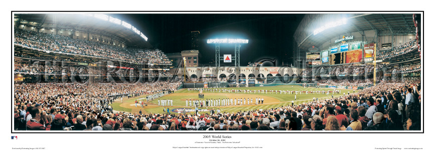 """2005 World Series"" Houston Astros 13.5""x39"" Standard Frame"