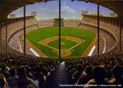 """Cavernous Cleveland Stadium"" Cleveland Indians Print"