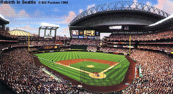 """Rebirth in Seattle"" Safeco Field Print"