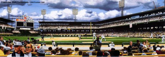 """""""Comiskey Park"""" Chicago White Sox Panoramic Photograph"""