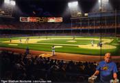 """Tiger Stadium Nocturne"" Detroit Tigers Print"