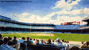 """Tiger Stadium Matinee"" Detroit Tigers Print"
