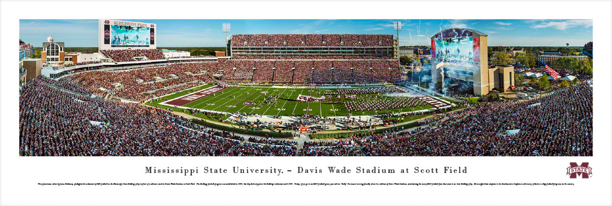 Mississippi State Bulldogs at Davis Wade Stadium Panorama Poster