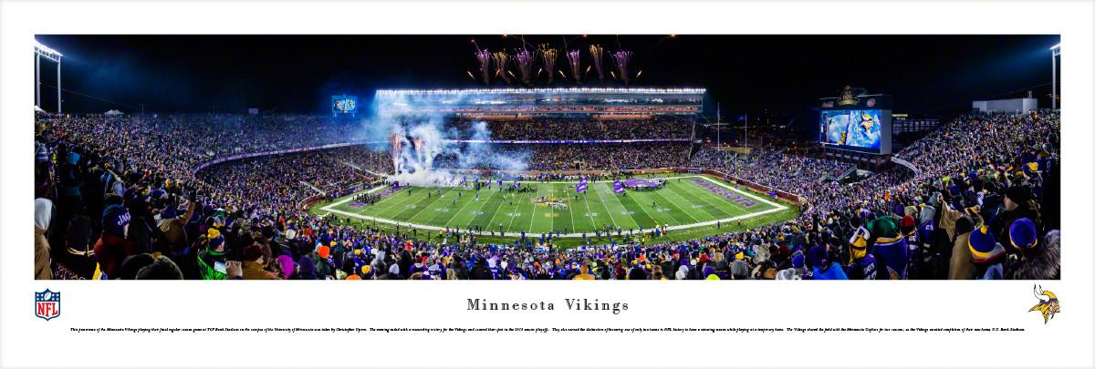 Minnesota Vikings at TCF Bank Stadium Panorama Poster