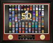 Super Bowl Fifty 50th Anniversary Ticket Collection Bronze Coin Photo Mint