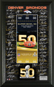 Denver Broncos Super Bowl 50 Signature Ticket