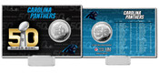 Carolina Panthers Super Bowl 50 Silver Flip Coin Card