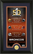 Denver Broncos Super Bowl 50th Anniversary Bronze Coin Supreme Photo Mint