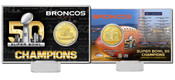 Denver Broncos Super Bowl 50 Champions Bronze Coin Card