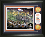 "Denver Broncos Super Bowl 50 Champions ""Celebration"" Bronze Coin Photo Mint"