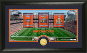 "Denver Broncos Super Bowl ""Traditions"" Bronze Coin Panoramic Photo Mint"
