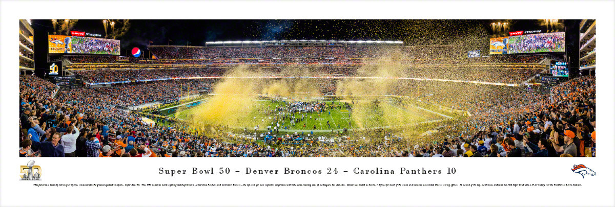"""Super Bowl 50"" Levi's Stadium Panoramic Poster"