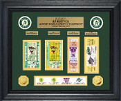 Oakland Athletics World Series Deluxe Gold Coin & Ticket Collection