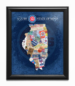 Chicago Cubs State of Mind Framed Print