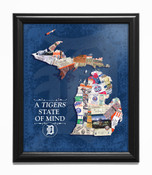 Detroit Tigers State of Mind Framed Print