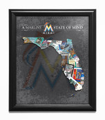 Miami Marlins State of Mind Framed Print